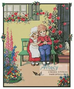 http://www.artecy.com/children-bench-cross-stitch.html