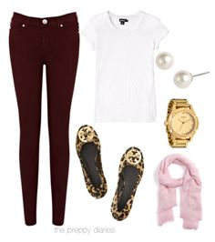 burgundy jeans -- fall trend!