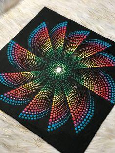 Torbellino de puntos Mandala arte decorativo / pintado a mano