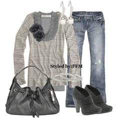 love gray. love the booties with the rough and tumble jeans