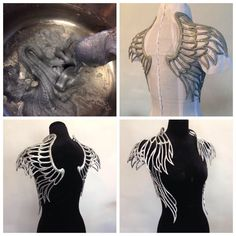 Linda Friesen uses polymorph plastic to create amazing prices for her couture fashion line.