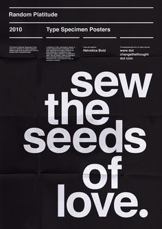 Homage to a typeface… Helvetica