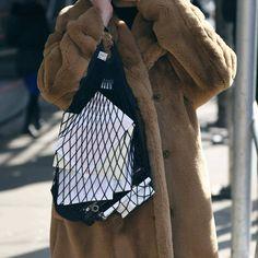 m File | Fish Net Bag #nyfw #streetstyle