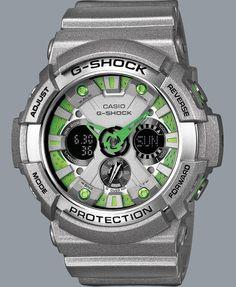 Novedad G-Shock en gris y matices en verde.