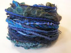 Yarn Variety Hank in a selection of blue yarns. by Jukodesigns Textured Yarn, Marine Blue, Different Textures, How To Better Yourself, Embroidery Thread, Textile Art, Yarns, The Selection, Therapy