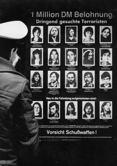 This wanted poster of the German authorities dates from around 1980 ....