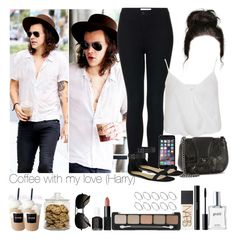 """Coffee with my love (Harry)"" by jaynnelinsstyles ❤ liked on Polyvore featuring Topshop, Miss Selfridge, CHARLES & KEITH, Chanel, Coffee Shop, NARS Cosmetics, shu uemura, philosophy, ASOS and Ray-Ban"