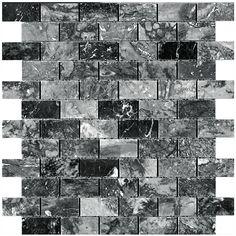 """Colour: Trenton Black Finish: Polished 12""""x 12"""" #Profiletile"""