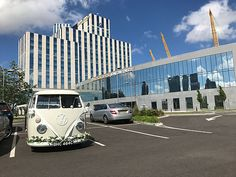 Need wedding car hire in Greenwich? Take a look at our unusual wedding car, a beautiful vintage VW wedding van. Wedding Vans, Wedding Car Hire, Wedding Company, London Bride, London Wedding, Vw Campervan Hire, Car Cost, Quirky Wedding, White Vans
