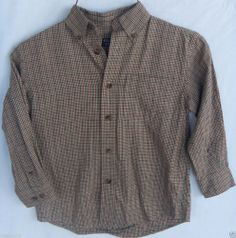 Class Club Size 5 Boys Shirt Plaid Button-Front Long Sleeve EUC
