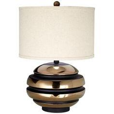 "Kathy Ireland Grand Sphere Black And Gold Table Lamp - 26""h   LampsPlus.com ($200)"