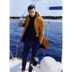 GQ Italia Editorial Il Dio Del Mare, August 2011 Shot #5 - MyFDB ❤ liked on Polyvore featuring luke evans, editorial tear sheet and editorials
