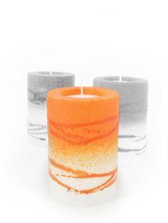 Rolle orange Zell Am See, Pillar Candles, Orange, Candles