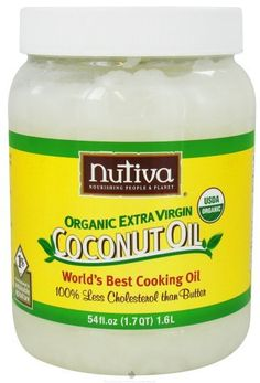 Nutiva Certified Organic Extra Virgin Coconut Oil - The good stuff. Keep a few jars handy at all times. Great for cooking, baking and also great as a skin and hair product. Jackpot!