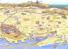 Barcellona arrivo... Mappa di Barcellona