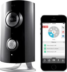Piper Home Security System: This security and home automation system combines wide-angle pan-tilt-zoom video, Z-Wave home automation, and  environmental sensors, all controlled from your smartphone or tablet.