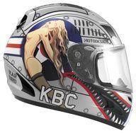 KBC Motorcycle Helmet  (Airborne II, Aircraft Pilot Style, Men's Used Streetbike Helmets)