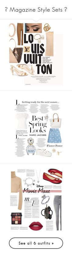 """""""★ Magazine Style Sets ★"""" by starsapphire097 ❤ liked on Polyvore featuring Louis Vuitton, Valentino, Joseph, Marc Jacobs, Marc by Marc Jacobs, H&M, Topshop, Disney, Victoria K and Whiteley"""