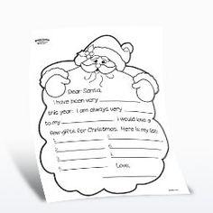 Free Printable - Dear Santa - Santa's Beard