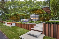 """Nathan Burkett, has been awarded a gold medal at the Melbourne International Flower and Garden Show for his garden installation named """"Equilibrium."""