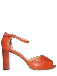 Geox high-heeled shoes, orange