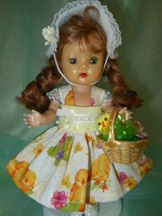 Easter outfit for Ginny and Muffy dolls.