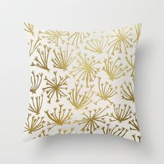Queen Anne's Lace #2 Throw Pillow by Cat Coquillette - $20.00