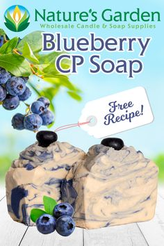 Free Blueberry CP Soap Recipe by Natures Garden