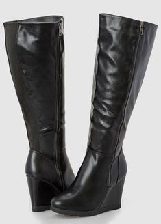 bfc01eb22c49 Side Zip Wedge Tall Boot - Wide Width Wide Calf