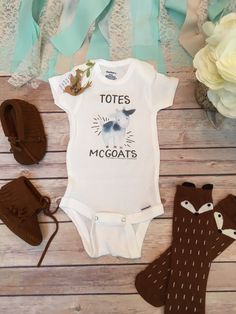 Totes McGoats Onesie®, Baby Boy Clothes, Hipster Baby Clothes, Baby Shower Gift…
