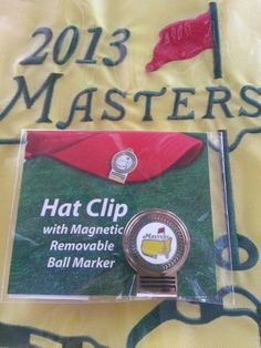 2013 Masters Golf Tournament Logo Hat Clip & Ball Marker from Augusta National
