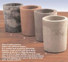 concrete planters that are easy to make, inexpensive, and i like the way they look