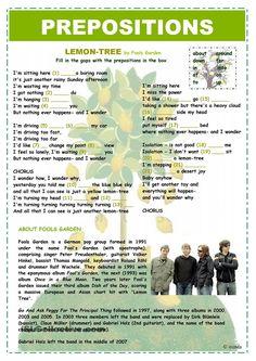 A2+ - PREPOSITIONS - LEMON TREE