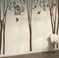 Tree Wall Decal Wall Sticker tree decal  Winter Trees by KinkyWall, $97.00