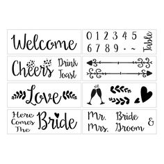 Hipster Wedding Stencil Kit