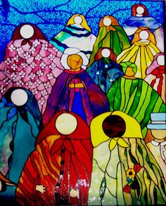 "Stained Glass Window Panel ""After Many Strong and Beautiful Women,"" Colorful, Ethnic, World Love,NOW, Women Friendship, Sisterhood, Art, USA by Suncatchercreations on Etsy https://www.etsy.com/listing/170426040/stained-glass-window-panel-after-many"
