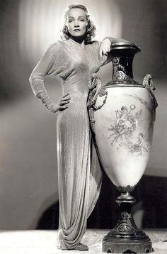 Marlene Dietrich dressed by Irene Lentz.