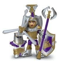 """Imaginext Sir Peter the Knight by Fisher-Price. $11.59. Imaginext 3 inch purple knight figure. Includes collectible trading card with special warrior code. Designed to work with the Imaginext Warrior Battle Arena (sold separately and subject to availability). Age 3-8 years. Imagine an arena where the greatest warriors of all time battle it out to see who is the best! Sir Peter has defeated hundreds of dragons using his signature move, the """"Dragon Dropper""""."""