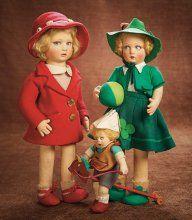Beautiful Italian Felt Character Girl, Model 450, in Red Ensemble by Lenci 1100/1500 Auctions Online | Proxibid