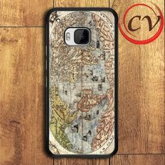Old Classic World Map HTC One M9 Black Case