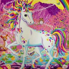 Mountain unicorn by Lisa Frank