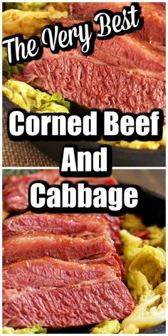 The BEST Corned Beef and Cabbage recipe you can make in the oven or in the slow cooker crockpot Super easy to make and worthy of a restaurant it s that AMAZING suburbansoapbox Corned Beef Brisket, Corned Beef In Oven, Cooking Corned Beef, Beef Brisket Recipes, Cabbage Slow Cooker, Corn Beef And Cabbage, Cabbage Recipes, Best Corned Beef Recipe, Corn Beef Recipe In Oven