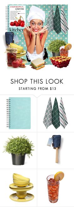 """Dream Kitchen"" by crisvalx-cv ❤ liked on Polyvore featuring interior, interiors, interior design, home, home decor, interior decorating, Ladelle and kitchen"