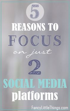 5 reasons to focus