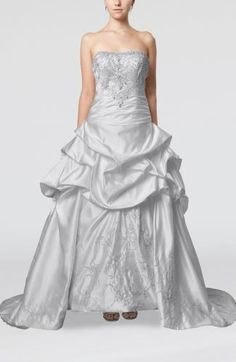 Satin Strapless Elegant Bridal Gowns - Order Link: http://www.theweddingdresses.com/satin-strapless-elegant-bridal-gowns-twdn6240.html - Embellishments: Ruching , Beaded , Pick up , Embroidery , Rhinestone; Length: Court Train; Fabric: Satin; Waist: Dropped - Price: 172.99USD