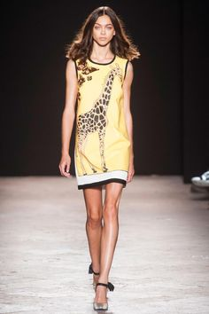 Angelo Marani, Milan, Spring 2014 --- I wore a giraffe print tunic to my high school reunion - a switch from leopard print!