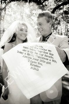 Fathers hankie from the bride