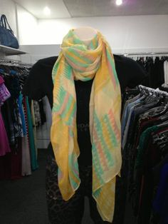 Why not accessorise with a cute chevron scarf?
