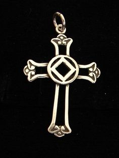 Sterling Silver Narcotics Anonymous NA Symbol Celtic Cross Recovery Jewelry | eBay