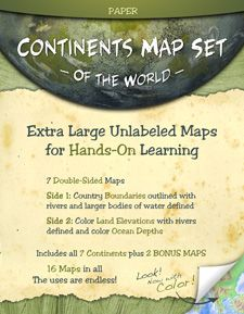 laminated 2-sided maps of all continents in large size for ~$25. wish we'd had this for challenge a!